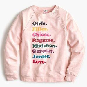 "J Crew ""girls"" Swearshirt"